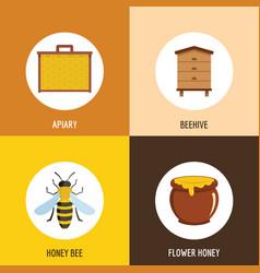 honey object cartoon style vector image vector image