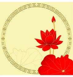 Oriental Lotus Flower Background vector image vector image
