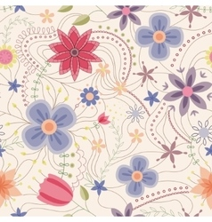 Abstract seamless pattern with flowers vintage vector image vector image