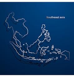 Asean map2 vector image