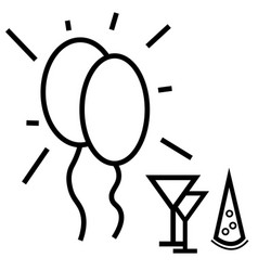 party icon vector image
