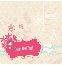 scrapbook new year card vector image