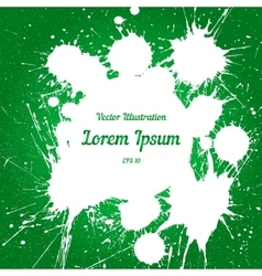 white ink splashes with space for text over vector image vector image