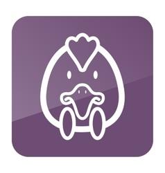 Chicken icon Animal head vector image