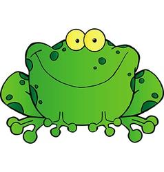 Fat Frog Cartoon Mascot Character vector image vector image