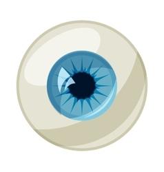 Human eye ball icon cartoon style vector image