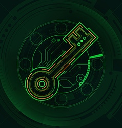 key preview vector image