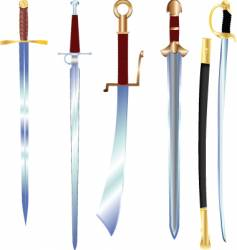 swords vector image vector image