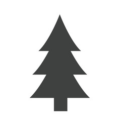 Tree pine natural environment ecological symbol vector