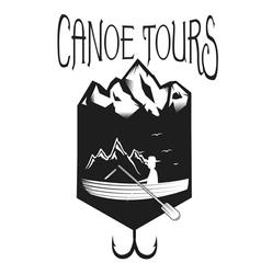 vintage rafting logo labels and badges vector image