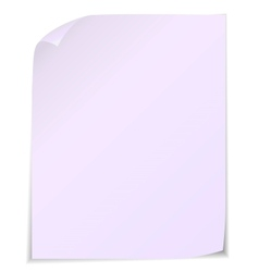 White post it notes isolated on white background vector image vector image