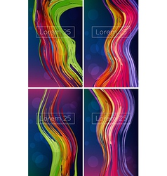 beautiful bright abstract backgrounds vector image vector image