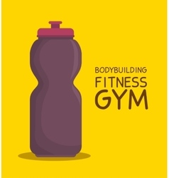 bottle water bodybuilding fitness gym icon design vector image vector image