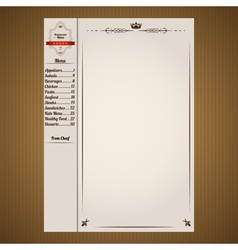 Classic Restaurant Menu Pages Template vector image