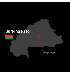 Map of Burkina Faso Royalty Free Vector Image VectorStock
