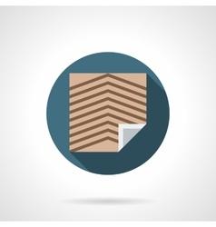 Office linoleum round flat icon vector image vector image