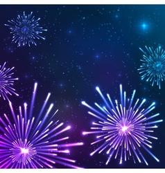 Shining neon lights new year card vector image