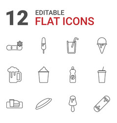 12 cold icons vector
