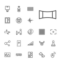 22 square icons vector