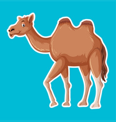 a simple camel character vector image