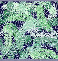 Abstract seamless pattern with palm leaves vector
