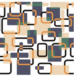 Abstract squares seamless vitage pattern vector