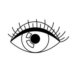 All seeing eye symbol decorative tattoo art vector