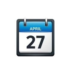 April 27 Calendar icon flat vector