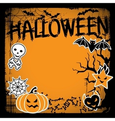 background of Halloween-related objects and vector image