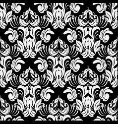 baroque black and white ornate seamless pattern vector image