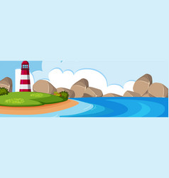 Beautiful nature panorama landscape vector