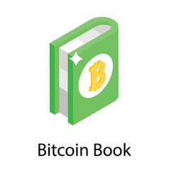 Bitcoin book vector