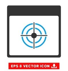 Bullseye Calendar Page Eps Icon vector
