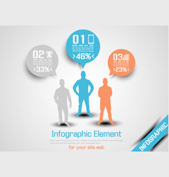 business man infographic option three 2 orange vector image