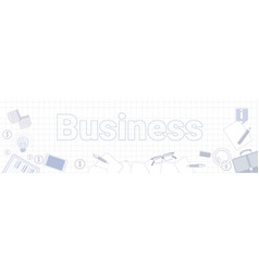 business office stuff on squared notebook paper vector image