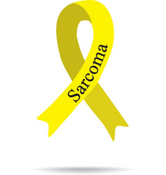 Cancer Ribbon Sarcoma International Day of vector image