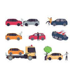 Car accidents insurance cases vehicle collision vector