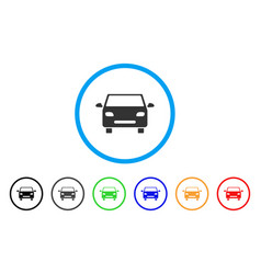 car rounded icon vector image