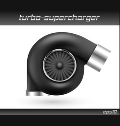 Car turbocharger isolated on white vector