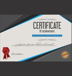 certificate of achievement retro template 3 vector image