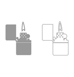 cigarette lighter it is black icon vector image
