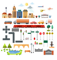 City design elements icons vector