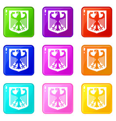 Coat of arms of germany set 9 vector