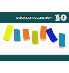 Colored notes paper vector image