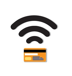 Contactless credit card vector