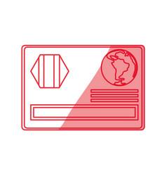 Credit card plastic vector