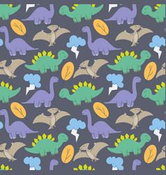 cute dinosaurs pattern design dinosaurs cute vector image