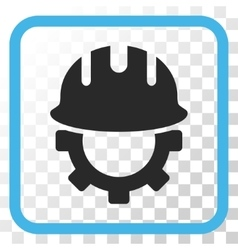 Development Hardhat Icon In a Frame vector image