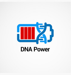 dna power logo concept icon element and template vector image
