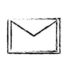 Email message envelope letter communication sketch vector